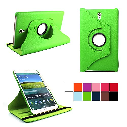 COOVY® Cover für Samsung Galaxy TAB S 8.4 SM-T700 SM-T701 SM-T705 Rotation 360° Smart Hülle Tasche Etui Case Schutz Ständer | grün