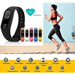 GerTong Fitness Trackers con Monitor de presión Arterial, Smart Band M2 Impermeable Banda Pulsómetro, Monitor de sueño, Fitness Tracker Podómetro Pulsera Regalos para Mujer Hombre