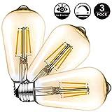Ampoule LED Edison Vintage (6w Dimmable, 3-pack)