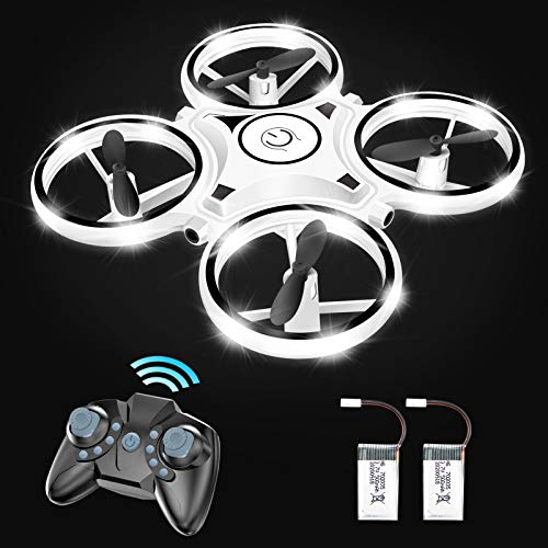 Eoyizw Drone for Kids and Beginners RC Helicopter Quadcopter with Led Lights Altitude Hold Infrared Obstacle Avoidance 3D Flips One Key Return Rechargeable Extra Batteries Toys for Boys and Girls