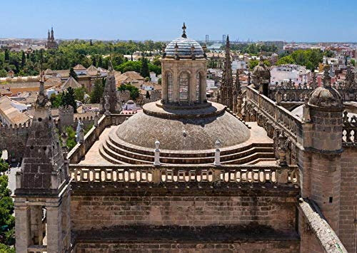 Rompecabezas para Adultos Techo De La Catedral De Sevilla Desde La Giralda De La Catedral De Sevilla En Puzzle 1000 Piezas DIY para Regalo De Juguete Adulto para Niños