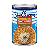 Blue Runner—Creole Cream Style Navy Beans 16 oz Can (Pack of 12)—No Salt Added—Slow Cooked and Authentic—A Great Start to Any Southern Dish