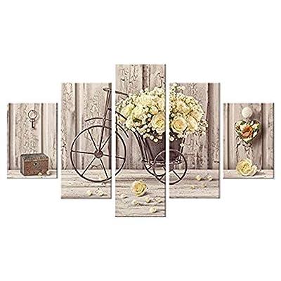 Material: Madera Color: Multicolor Dimension: 66 x 115 cm Fácil montaje; se recomienda colocar los cuadros a una distancia de unos 2 cm