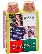 26x Macetas redondas de fibra de coco biodegradable Romberg Classic Pots (6cm)