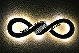 led Deko Schlummerlicht Nachtlicht Name Datum Ich liebe dich für die Unendlichkeit, Unendlichkeitszeichen liegende Acht personalisiert mit Wunsch Namen - Schlafzimmer Wohnzimmer Geschenk infinity
