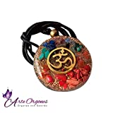 Orgonite necklaces with crystals 7 chakras, EMF protection energy generator - Contains quartz, crystals, wellness, balance, holistic therapy, reiki, yoga, meditation, handmade