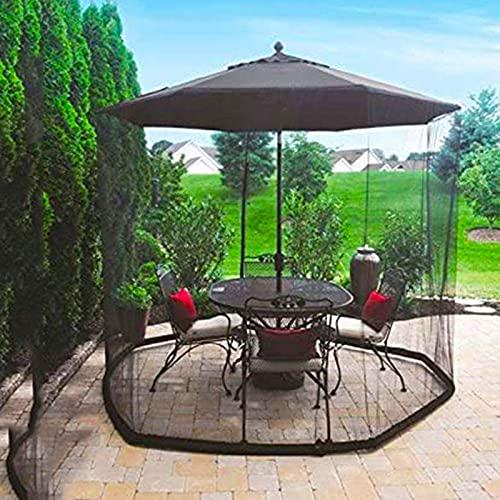 LBXKE Patio Funda para Sombrilla, Mosquitera para Sombrillas Jardín con Cremallera, Usado para Malla De Red para Mosquitera De Sombrilla De Jardín, Negro