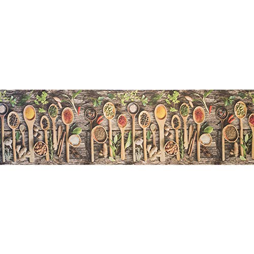 IlGruppone Tappeto passatoia Fantasia Made in Italy Antiscivolo Lavabile Aderente - Grigioscuro - 50x250 cm