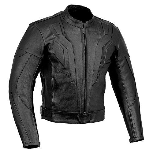 SPEED MAXX LTD Herren-Motorradjacke im Knight-Rider-Stil, CE-Rüstung, Leder, Gr. L
