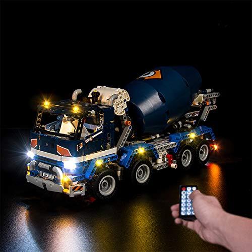 Elroy369Lion USB-betriebenes RC-LED-Beleuchtungskit für Lego Technic Betonmischer 42112, modifiziertes LED-Licht für Lego 42112 (nur LED enthalten, kein Lego-Kit)