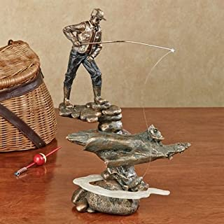 Touch of Class Fishing Man Sculpture Statue Figurine Fisherman Outdoor Enthusiast Gift