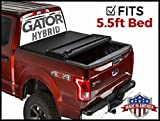 Gator Hybrid Hard Folding (Fits) 2015-2019 Ford F150 5.5 FT Bed Only Hard w Soft Looks Tonneau Truck Bed Cover (GHF0339) Made in The USA
