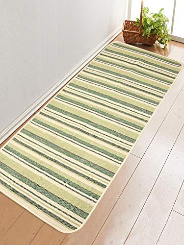 Saral Home Cotton Anti Skid Yoga Mat/Runner -60x180 cm; Green