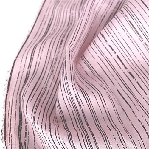 TOLKO Bauwollstoffe Sommer Batist aus 100{f696452bfb8f6751538b7279a9d7c42206277ee1b86f5df0993ff1b56700c713} Baumwolle   weicher Nesselstoff als Modestoff Kleiderstoff Dekostoff   Meterware zum Nähen/Dekorieren (Rosa Streifen 120cm breit)