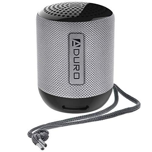 Aduro Resound Mini Wireless Bluetooth Speaker, Indoor/Outdoor Compact Speaker with Built-in-Mic (Black)