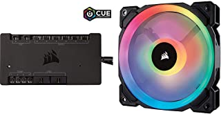 CORSAIR iCUE Commander PRO Smart RGB Lighting and Fan Speed Controller with LL Series LL120 RGB 120mm Dual Light Loop RGB LED PWM Fan Single Pack