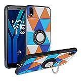 Funda para Huawei Y5 2019, Fashion Design [Antigolpes] con 360 Anillo iman Soporte, Resistente a los arañazos TPU Funda Protectora Case Cover para Honor 8S,Triangle