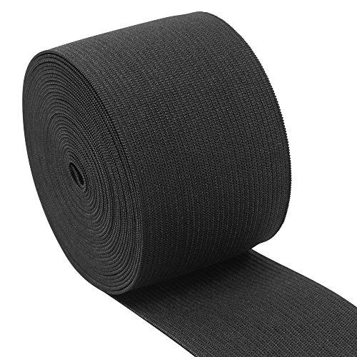 iCraft 2-Inch Wide by 5-Yard Black Heavy Stretch Knit Elastic (Black), 11160