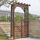 Arco De Rosas, 220 X 130 X 50 Cm, Arco como Soporte para Plantas Trepadoras, Marco De Madera para Plantas De Jardín Enrejado