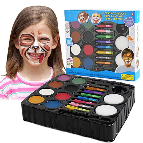 Balnore Face Painting Kit for Kids 16 Large Washable Paints