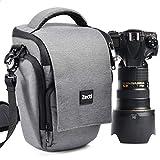 カメラバッグ Zecti カメラショルダーバッグ 一眼レフケース ソフトキャリングケース ズームバッグ 一眼レフ用 防水 帯電防止 全面保護 大容量 持ち運びに便利 グレー