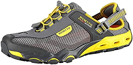 Mens Water Shoes Hiking Aqua Shoes Quick Dry Breathable Wading Trekking Sneakers (7.5, 1605 Gray)