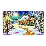 DIY 5D Diamante Pintura,Casa del árbol de navidad nevado Kit de pintura de diamantes 5D para decoración de la pared del hogar para adultos y niños 30 x 40cm(Sin marco)