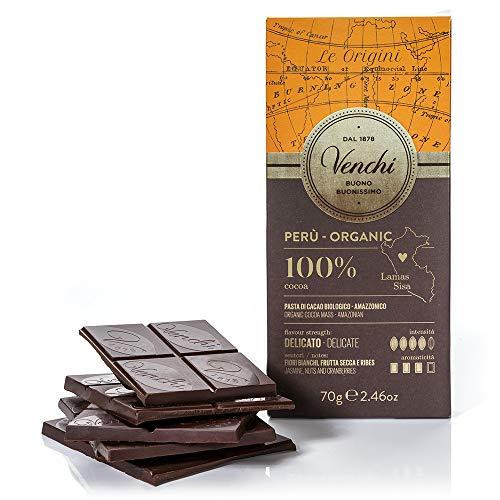 Venchi Tavoletta di cioccolato fondente 100% Perù BIO 70g