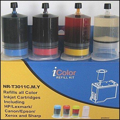 iColor Nachfüllkit: Universal-Refill-Kit Color (Cyan/Magenta/Yellow) (Nachfülltinte Universal)