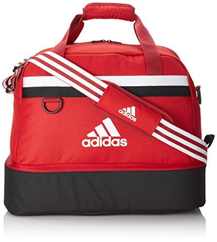 Adidas, Borsa Tiro 13 Teambag, con scomparto inferior, Rosso (Rot), 61 x 27 x 28 cm, 75 litri
