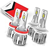 LASFIT H11 9005 LED Headlight Bulbs Combo Package, H8 H9 Low Beam HB3...