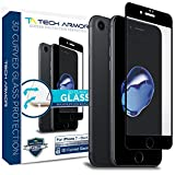 Tech Armor 3D Curved Edge Glass Screen Protector for Apple iPhone 7 (4.7-inch) (Black) [1-Pack]…