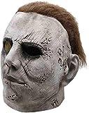 PIAOL Masque d'halloween Masque De Clown d'horreur Accessoires De Costumes De Cosplay De Jeux Vidéo Coiffures en Latex,White-OneSize