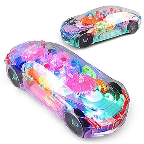 ROYAL PEAFOWL Kids Toys Robot Car for 3-6 Year Old Boys/Girls Concept Musical and 3D Lights Transparent Car Pack-1