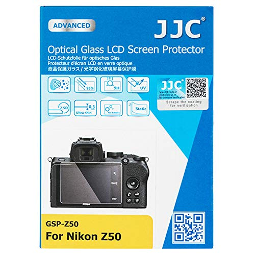 Anti-Scratch Tempered Glass Camera LCD Screen Protector for Nikon Z 50 Z50 Mirrorless Camera, 0.3mm Ultra-Thin, 9H Hardness, 2.5D Round Edges