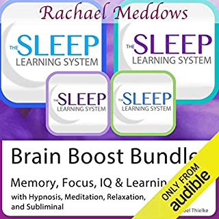 Brain Boost Bundle: Memory, Focus, IQ, Hypnosis, Meditation and Subliminal - The Sleep Learning System audiobook cover art