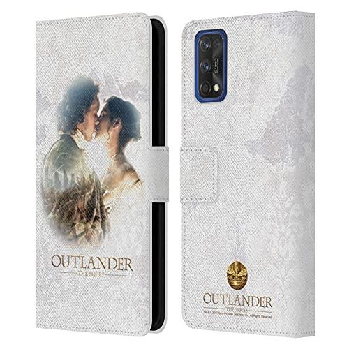 Head Case Designs Licenza Ufficiale Outlander Claire E Jamie Bacio Primi Piani Cover in Pelle a Portafoglio Compatibile con Realme 7 PRO