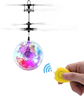 WECATION RC Flying Toy, Kids and Teenagers Infrared Induction Helicopter Toys, Flashing Lighting Flying Ball, Magic Remote Controller Flying Toys.