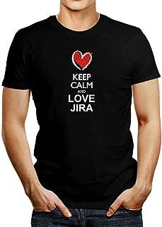 Keep Calm and Love JIRA Chalk Style T-Shirt