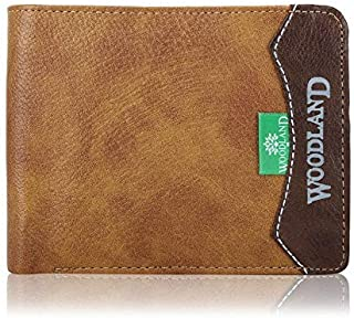 Woodland-o-Wallet Men's Leather Casual Regular Purse Wallet (Brown)