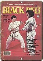 Black Belt Karate ティンサイン ポスター ン サイン プレート ブリキ看板 ホーム バーために