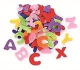 Glorex Buchstaben Streuteile für Deko, Filz, Mehrfarbig,
