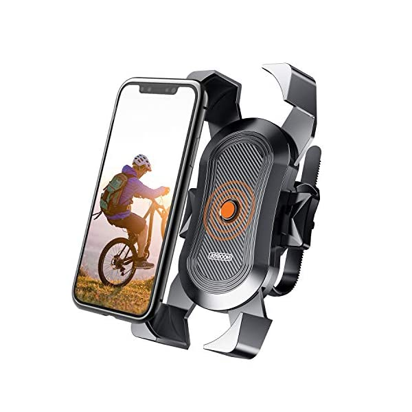【Upgraded】JOYROOM Bike Phone Mount, Secure Lock & Full Protection Bicycle Holder for Mountain Bike, Motorcycle Handlebar, for Cell Phone, iPhone 11, X/XR/XS MAX, Samsung and Most 4-6.8 inch Smartphone