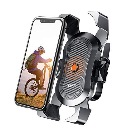 Soporte Movil Bicicleta,JOYROOM Anti Vibración Soporte Movil Bici Montaña con 360° Rotación para Moto Cochecito, Universal Manillar para iPhone 11 Pro Max/11 Pro/11/X/8, Samsung y 4
