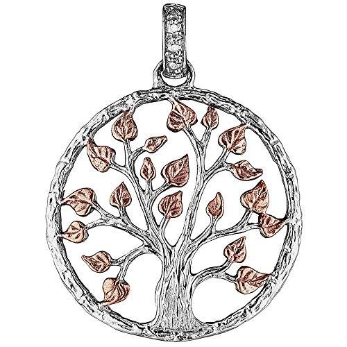Julie Julsen Damen Silber Baum des Lebens Anhänger 32mm - JJPE0249.8