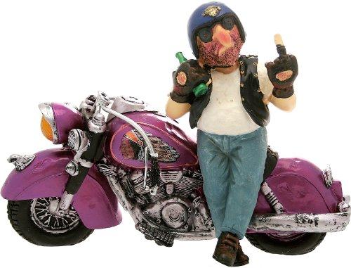CERTRE Motocycliste avec moto violet 32 cm H. 22 cm (frais fixe euro 11,90 € – vous pouvez ajouter d'autres articles dans le même ordre jusqu'à un poids total de 40 kg).