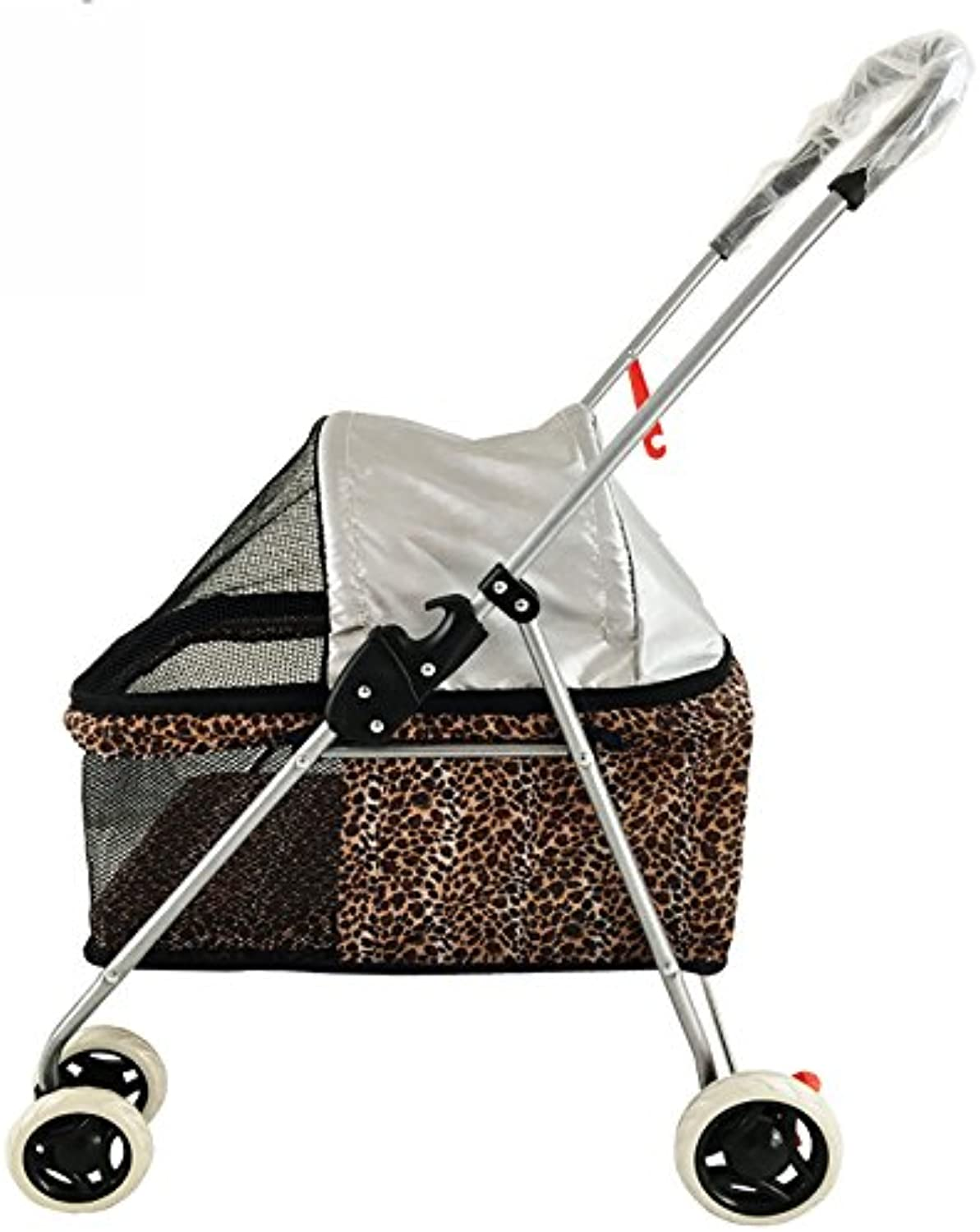 MMM@ Lightweight trolley Cat and dog cart Push can be folded