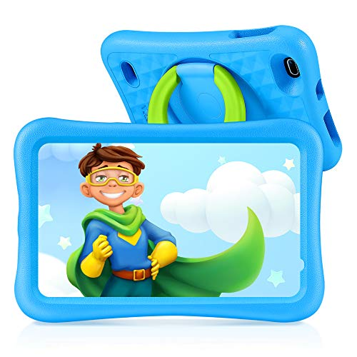 Tablet para Niños con Cámaras de 5MP y 2MP, Vankyo Tablet Niña con WiFi con ROM de 32GB, Processore Quad-Core, Android 9.0, RAM de 2GB (Azul)