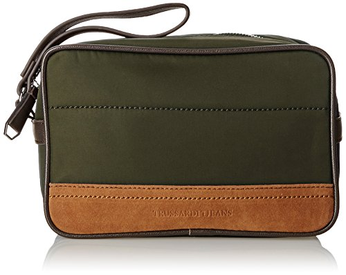 Trussardi Jeans Beauty Case, Chicago, Militare, 25 cm