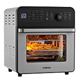 CUSIMAX Air Fryer Oven, 14.5L Large Digital Air Fryer for Home Use, 16-in-1 Countertop Convection Oven with LED Touchscreen, for Fryer Dehydrate Rotisserie Bake Oil-Free, Accessories Included, 1700W